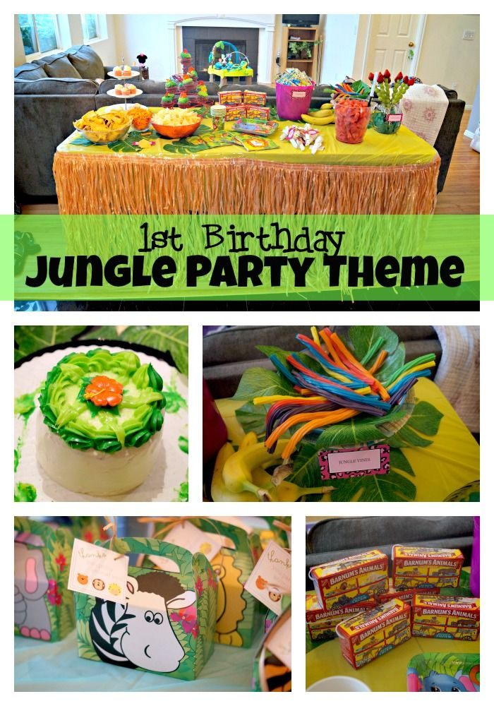 Jungle Party 1st Birthday. Go wild with the fun animal theme party ideas in this safari party idea.
