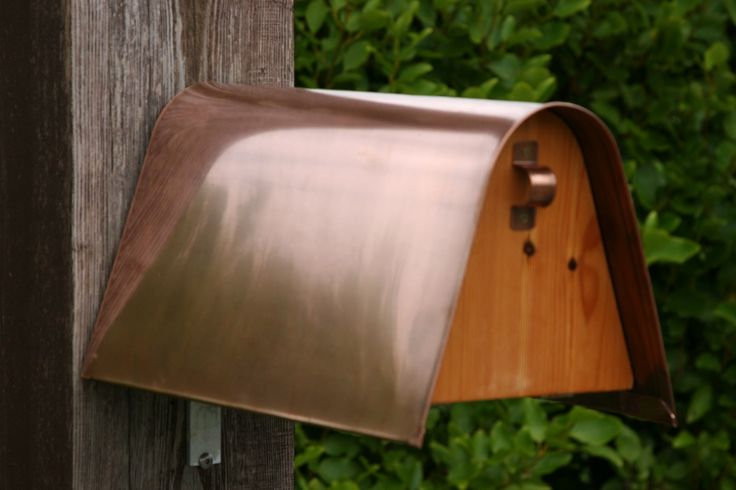 Bronze Copper with Pitch Pine letter box