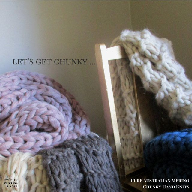 ON SALE  Chunky Knit Blanket  custom order your Australian Merino hand knit wool blanket or hand knitted throw. Made in Melbourne.