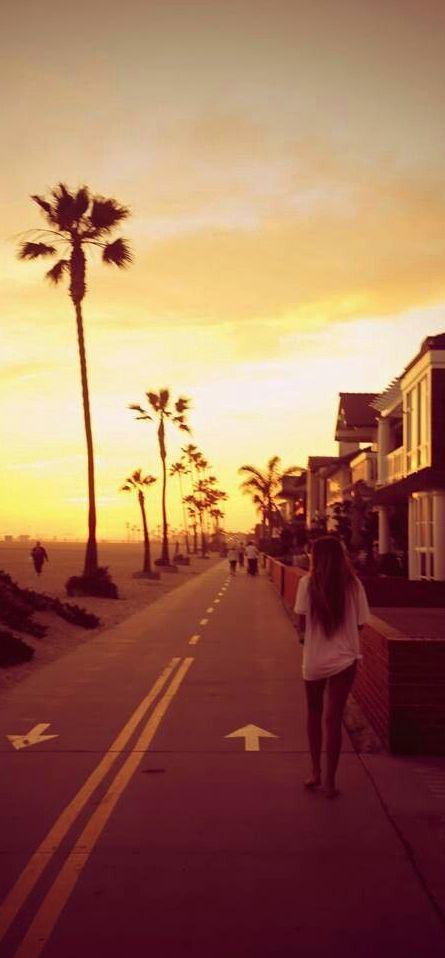 Sunset in Newport Beach, California, USA