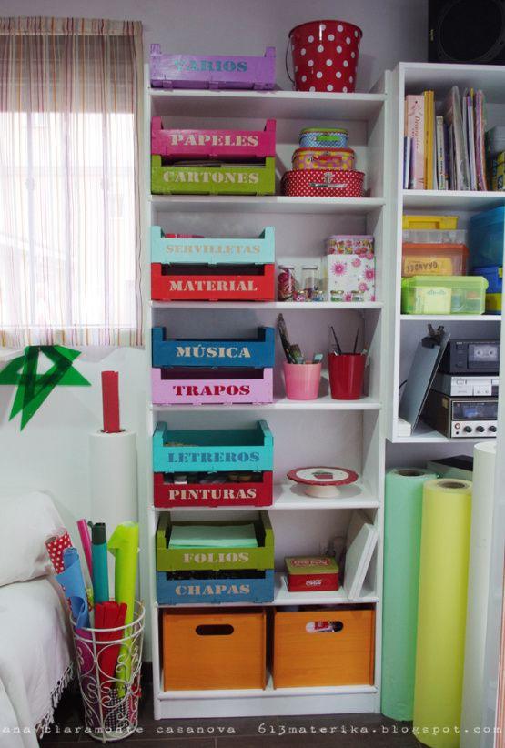 Diy organizar con cajas de madera recicladas cajas de - Cajas de madera recicladas ...