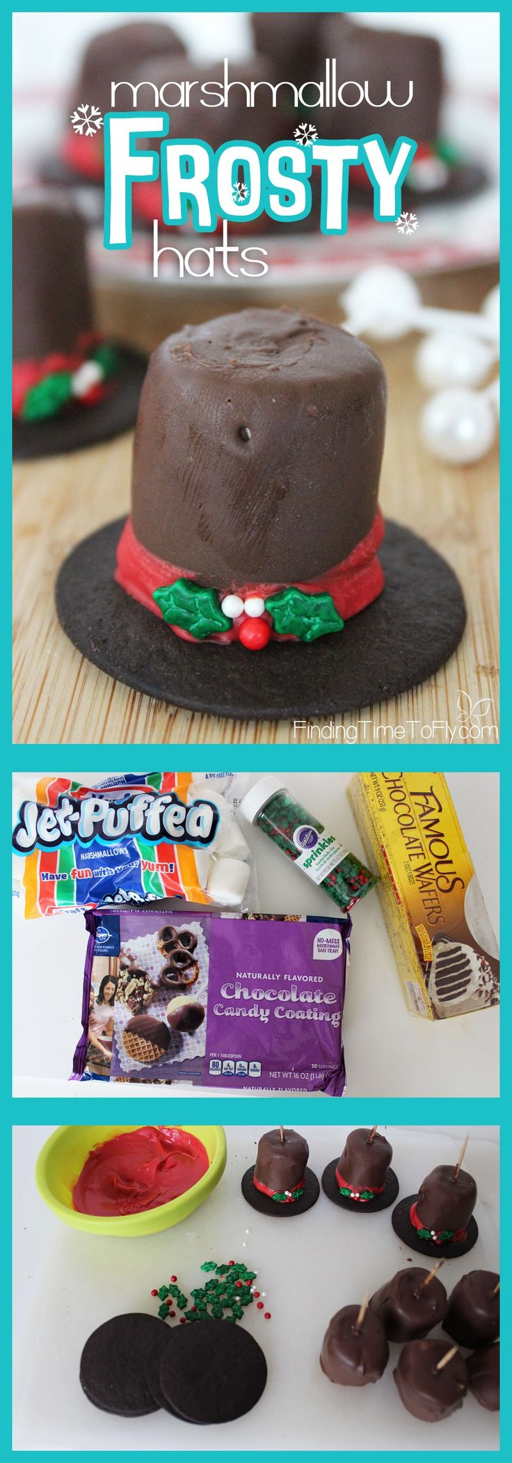 These Marshmallow Frosty Hats are perfect to include in Christmas Gift Baskets…