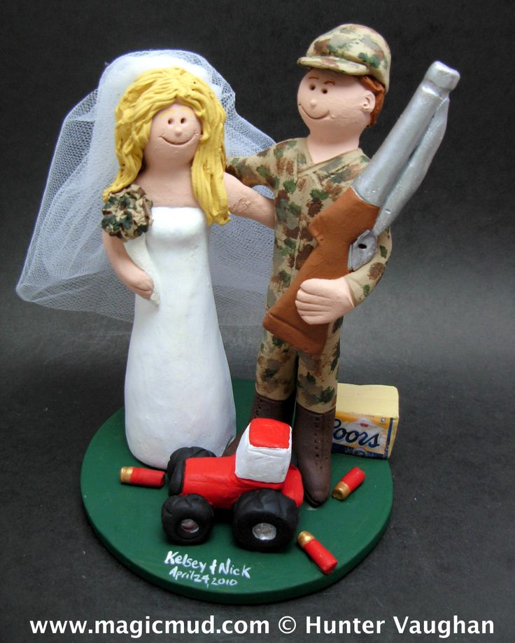 redneck deer fishing hunting wedding cake toppers 69 best images about wedding cake toppers on 19131