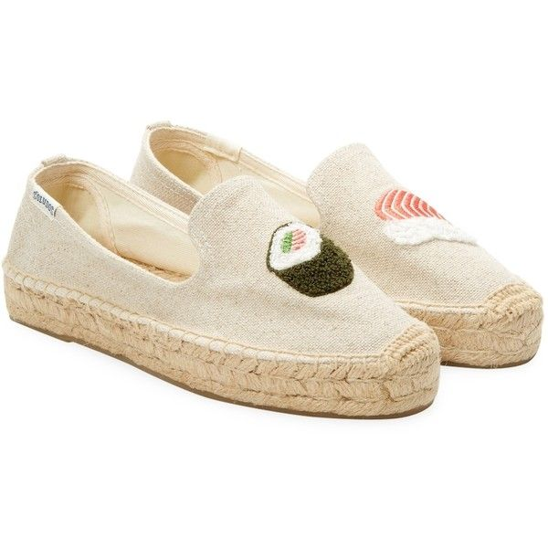 72e90fcf4d02 Soludos Women s Sushi Embroidery Slippers - Cream Tan