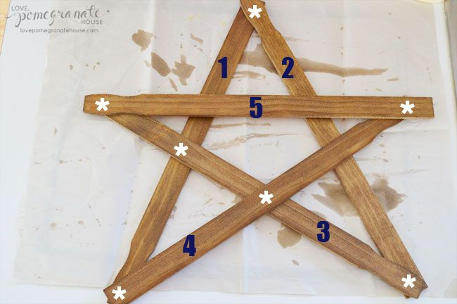 Rustic Paint Stick Stars
