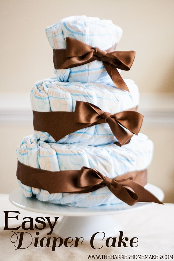 this diaper cake tutorial is so much easier than all the other ones I've seen!