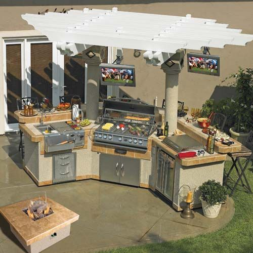 Cal Flame GPV3100 Grand Pavilion Outdoor BBQ Island LED Lighting With IPod  Station At Calflamebbq. Bbq Island KitsOutdoor KitchensOutdoor ...