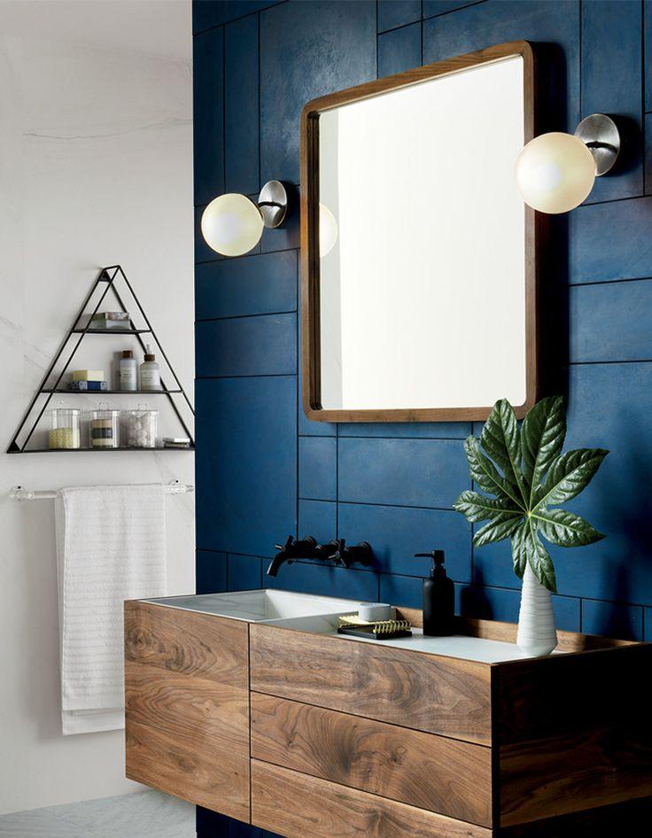 Couleur salle de bains : 15 astuces pour apporter de la couleur à la salle de bains - Elle Décoration
