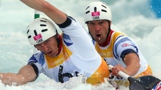 Team GB canoe slalom gold & silver.