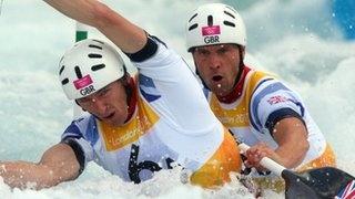 Team GB canoe slalom gold & silver.