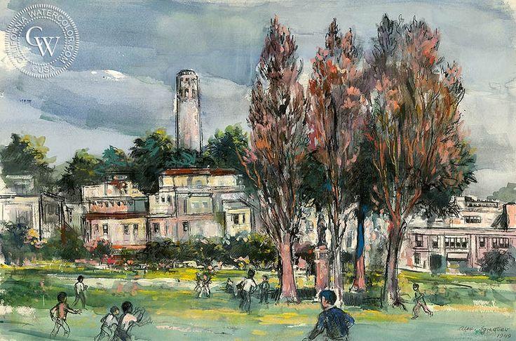 Park in North Beach San Francisco, 1949