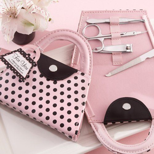 Mini Purse Shaped Manicure Sets by Beau-coup...wonder if I can come up with a pattern to pull this off in felt?