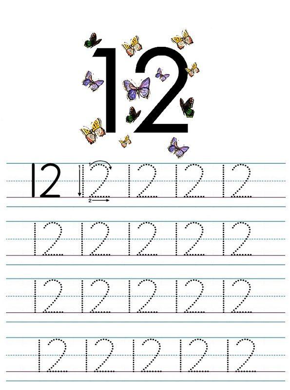 Number 12 Worksheets For Children K5 Worksheets Tracing Worksheets Numbers Preschool Number Worksheets Kindergarten