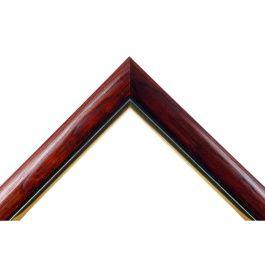 Arch Mahogny Gold är en lite finare mörbrun ram med en fin markerande guldkant. Klarlackad med hög glans för en lite exklusivare ram, med ett levande och ombonat utseende.Arch Mahogny Gold passar bra där man vill ha lite finare bruna ramar i egna mått. Den bruna ramen passar mycket bra till de flesta foton, konst och bilder som man vill rama in. Bredd: 29 mm. Höjd: 19 mm. Falsdjup: 13 mm.