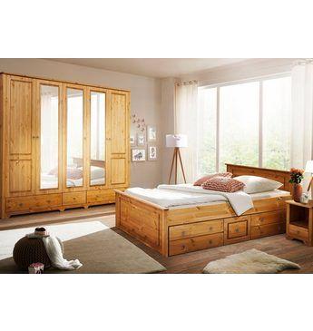 Elegant Home affaire Schlafzimmer Set Hugo tlg Bett cm trg Kleiderschrank und Nachttische Jetzt bestellen unter