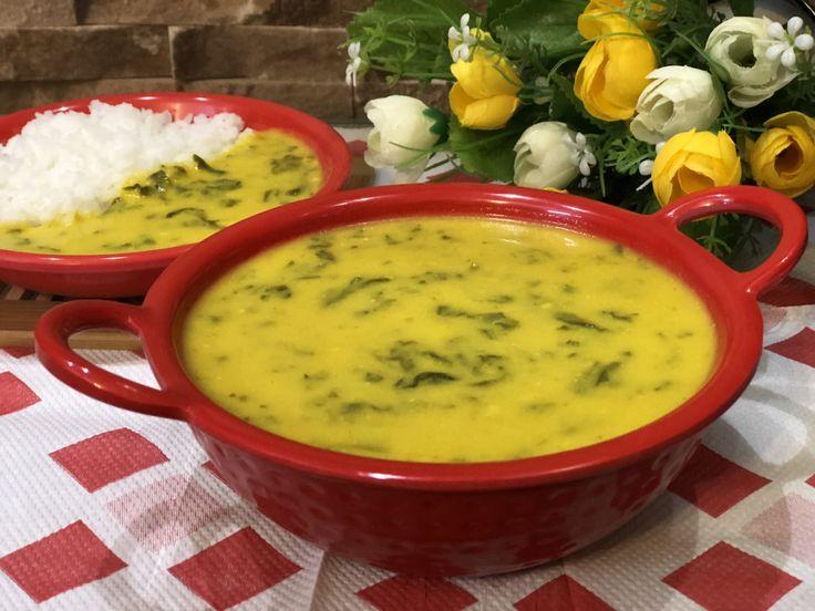 Palak Kadhi (Low Calorie Recipe) - Lunch Recipe