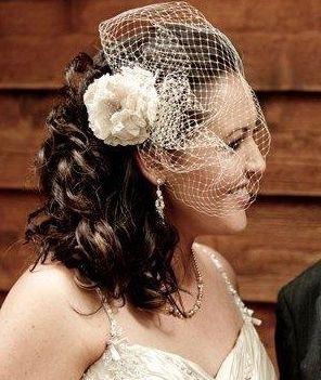 Elizabeth de Varga 'Eloise' hand made silk flower birdcage veil made for a real bride www.devarga.com.au