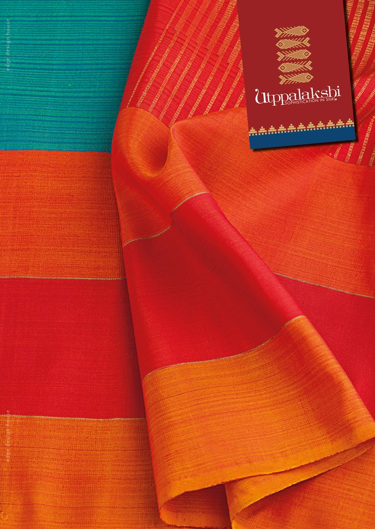 The saree is a rare combination of kanjeevaram and kora silk. Specially hand woven to celebrate women's day. The electric blue and the tangerine orange combination provides a vivacious contrast. Women power. #Utppalakshi #Sareeoftheday#Silksaree#Kancheevaramsilksaree#Kanchipuramsilks #Ethinc#Indian #traditional #dress#wedding #silk #saree#craftsmanship #weaving#Chennai #boutique #vibrant#exquisit #pure #weddingsaree#sareedesign #colorful #elite