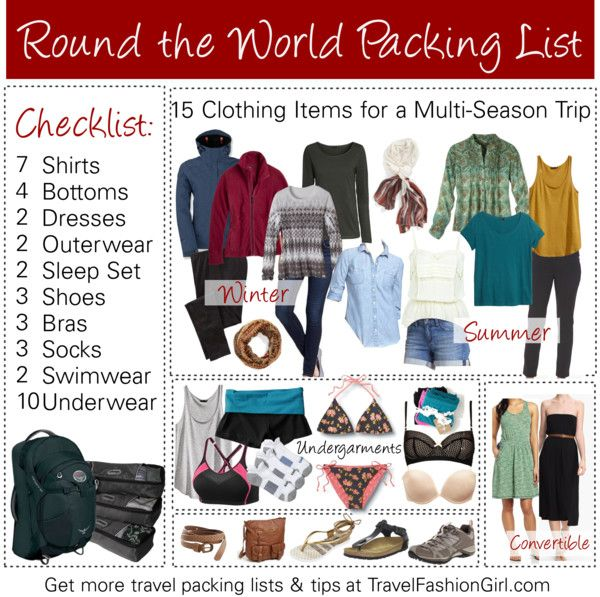 RTW Packing List: Your Ultimate Guide to Packing for Around the World Travel http://travelfashiongirl.com/rtw-packing-list-your-ultimate-guide-to-packing-for-around-the-world-travel/ #travel #packing #list