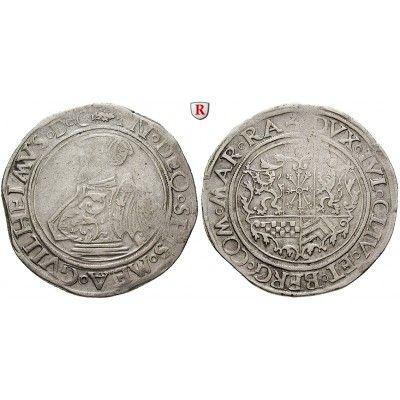 Jülich-Kleve-Berg, Herzogtum Jülich-Berg, Wilhelm V., Taler o. J. (nach 1554), ss: Wilhelm V. 1539-1592. Taler o. J. (nach 1554)… #coins