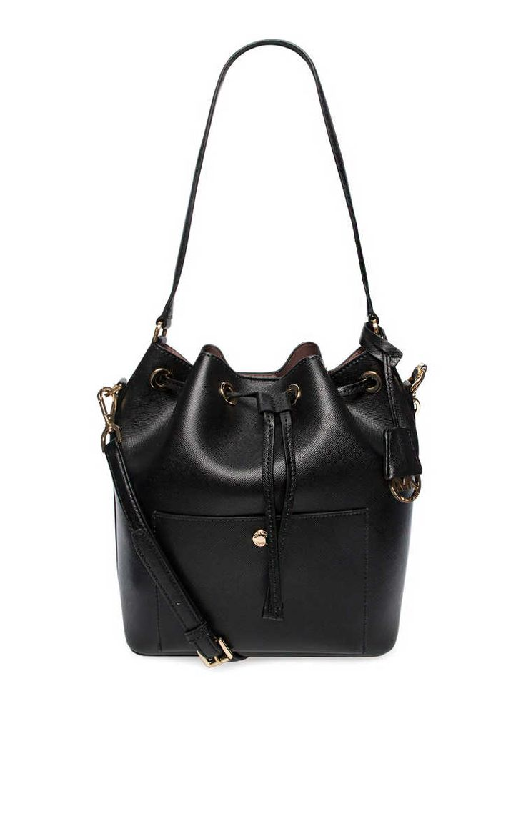 Handväska Greenwich LG Bucket Bag BLACK/DARK ROSE - Michael - Michael Kors - Designers - Raglady