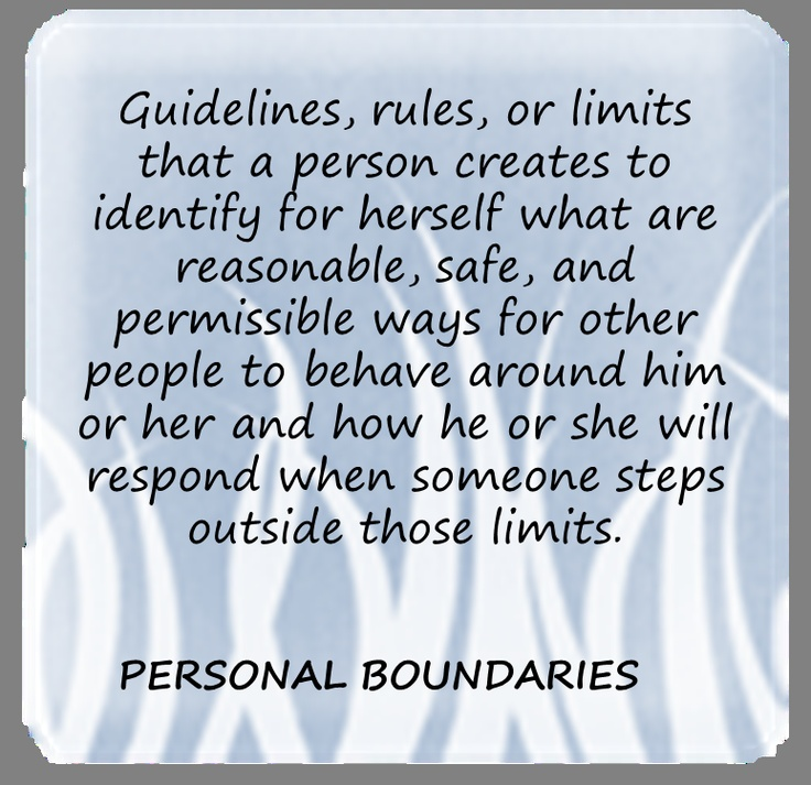 personal boundaries Personal boundaries protect beliefs, values and individuality they allow us to create a personal space that offers solace and strength in difficult times.
