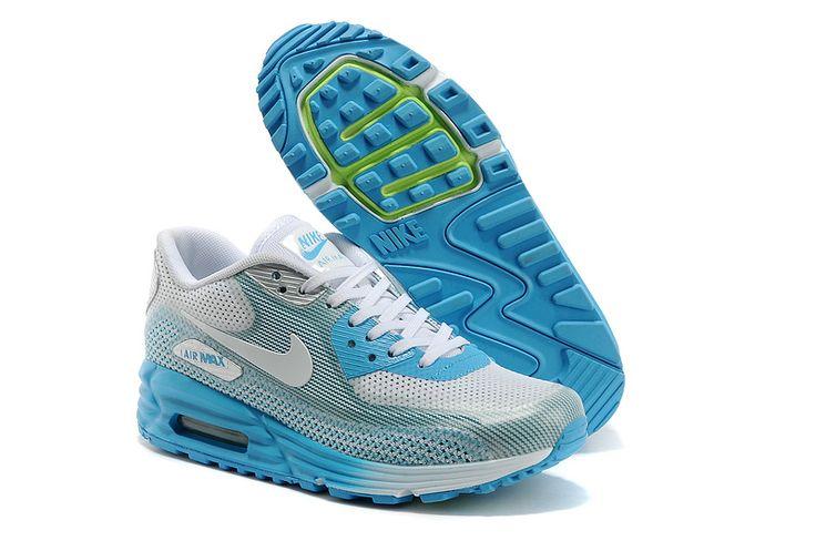 ��74.99 Nike Air Max Lunar90 Womens White Light Blue: Shoes Nikes, Air Maxw