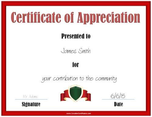 Best 25+ Certificate of appreciation ideas on Pinterest Teacher - certificate of appreciation words