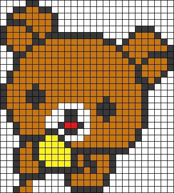 pixel art nounours