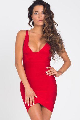 Layla Red Bandage Dress