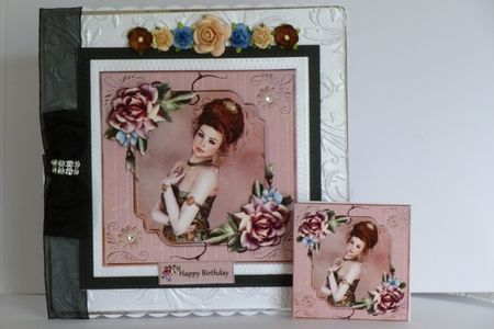 Framed Lady   Pink Roses on Craftsuprint - View Now!