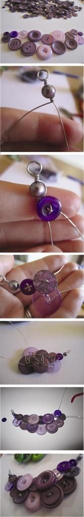DIY Button Necklace                                                       …