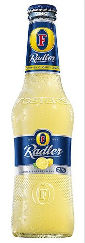 Fosters Radler cloudy lemon beer..I love this lemony drinks during summer time.