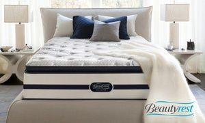 Closeout: Simmons Beautyrest Recharge Plush Pillowtop Mattress Set. Free White Glove Delivery. 10-Yr Limited Warranty