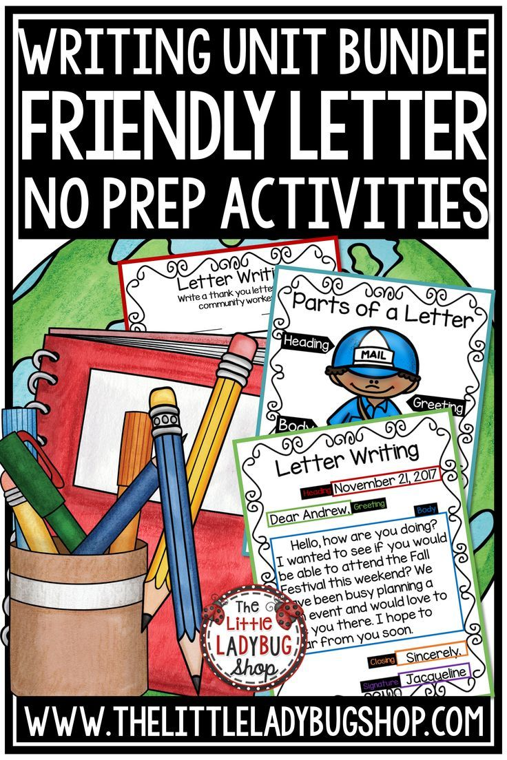 how to write a friendly letter templates & printables - 2nd grade