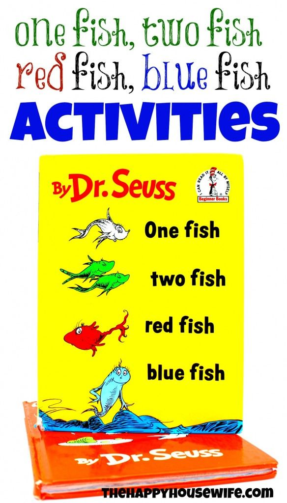 31 Days of Read-Alouds: One Fish, Two Fish, Red Fish, Blue Fish | The Happy Housewife