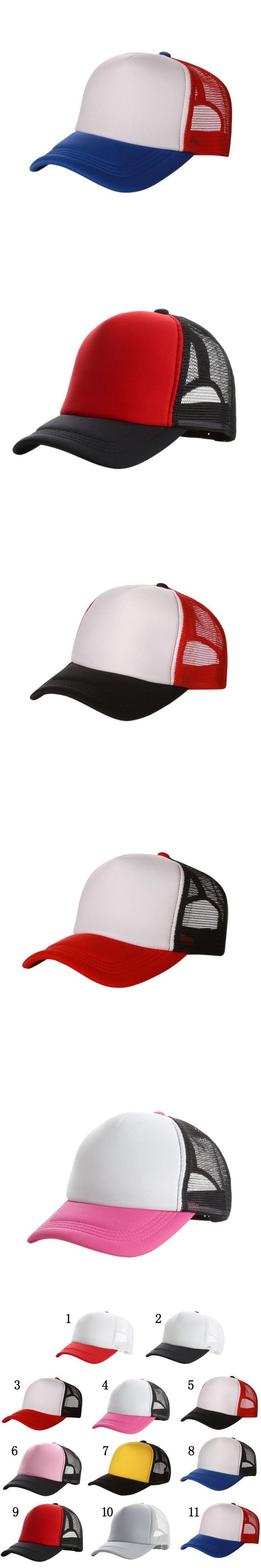 Fashion Good-looking New Plain Baseball Cap Solid Trucker Mesh Blank Curved Adjustable Baseball Hat baseball cap snapback