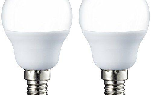 AmazonBasics LED E14 Small Edison Screw Golf Ball P45 Bulb, 5.5W (equivalent to 40W): D'une durée de vie de 15000heures, l'ampoule…