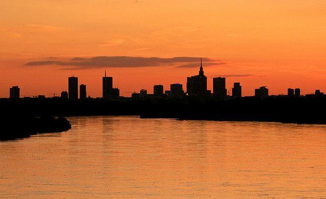 #Warszawa najlepiej wygląda z mostów :) #skyline #sunset