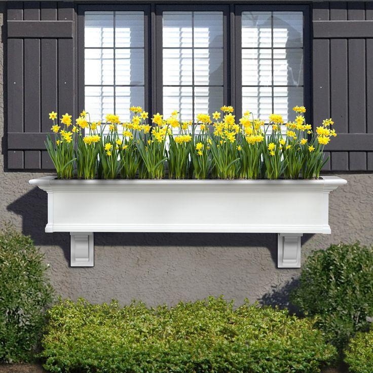 "Mayne Yorkshire Window Box 5FT White ""KD"" 4825-W"