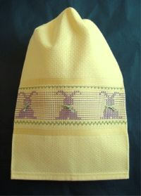 Bunny On Parade Malaga Towel Kit|Huck Embroidery Kit|Swedish Weave Kit|Stitch On It Direct