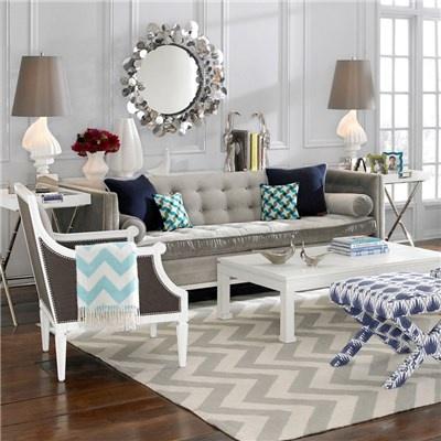 Jonathan Adler Furniture Lampert Brussels Charcoal Sofa @Layla Grayce #laylagrayce #jonathanadler #livingrooms
