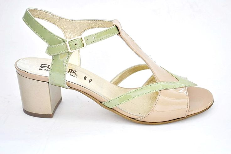 Elena Shoes Made In Italy - Spring Summer Collection - Collezione Primavera Estate - Sandal - Sandalo - Gold, Green, Light brown - Tacco platino, verde, cappuccino - Fashion - Glamour