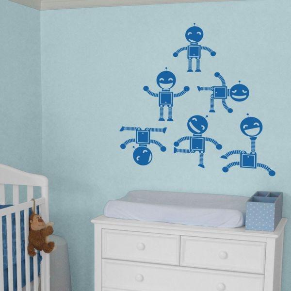 Fun Robots   Set Of 6   Wall Decals Part 54