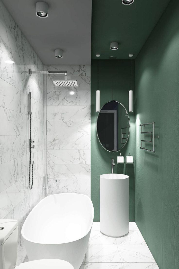 50 idee moderne per ristrutturare un bagno stretto e lungo for Idee per ristrutturare il bagno