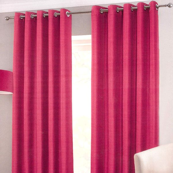 Sumatra Pink Black Out Eyelet Curtains