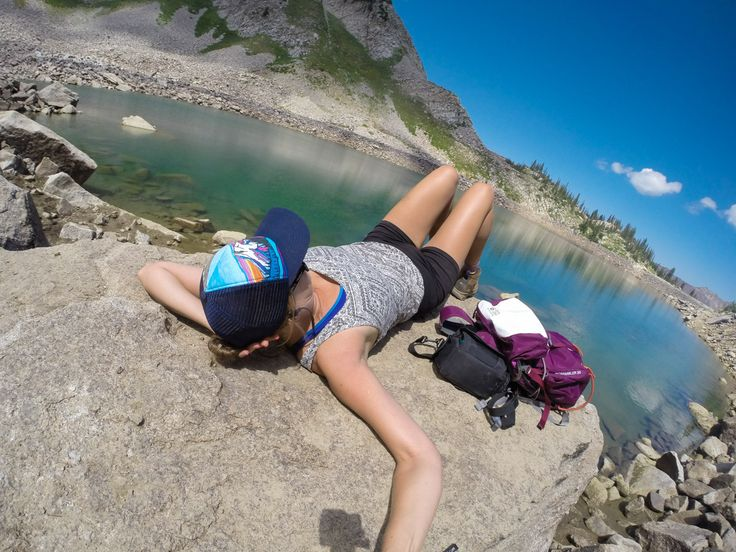 "Pro Tips from @bearfoottheory: ""GoPro shot from a solo hike to White Pine Lake above Salt Lake City, Utah // Learn my favorite GoPro tips and tricks to improve your travel photography."""
