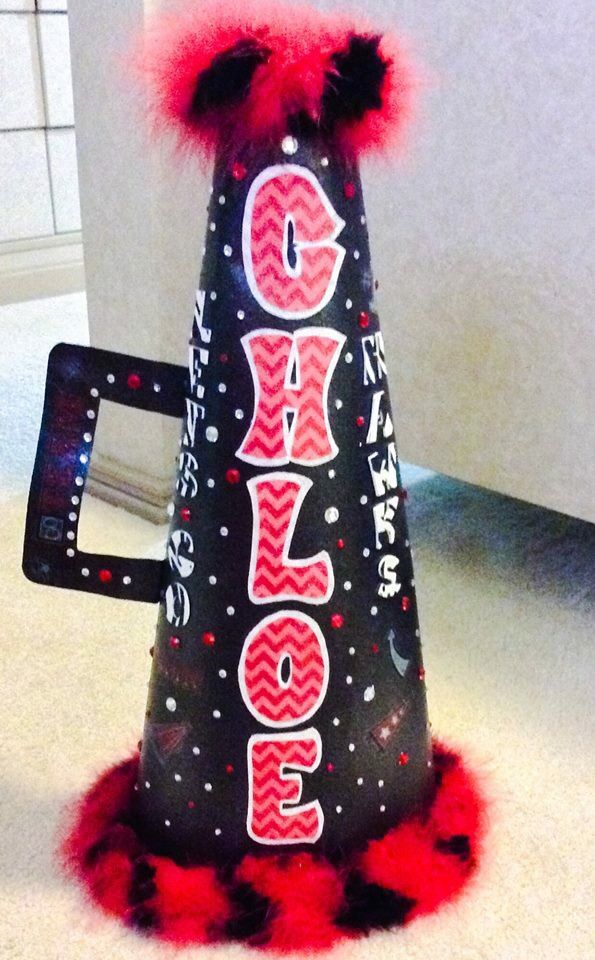 DIY megaphone made out of poster board.