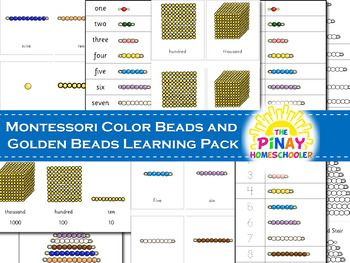 Montessori Color Beads and Golden Beads Learning Pack | TpT