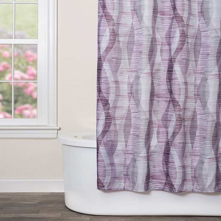 Saturday Knight, Ltd. Sketchbook Waves Shower Curtain, Purple